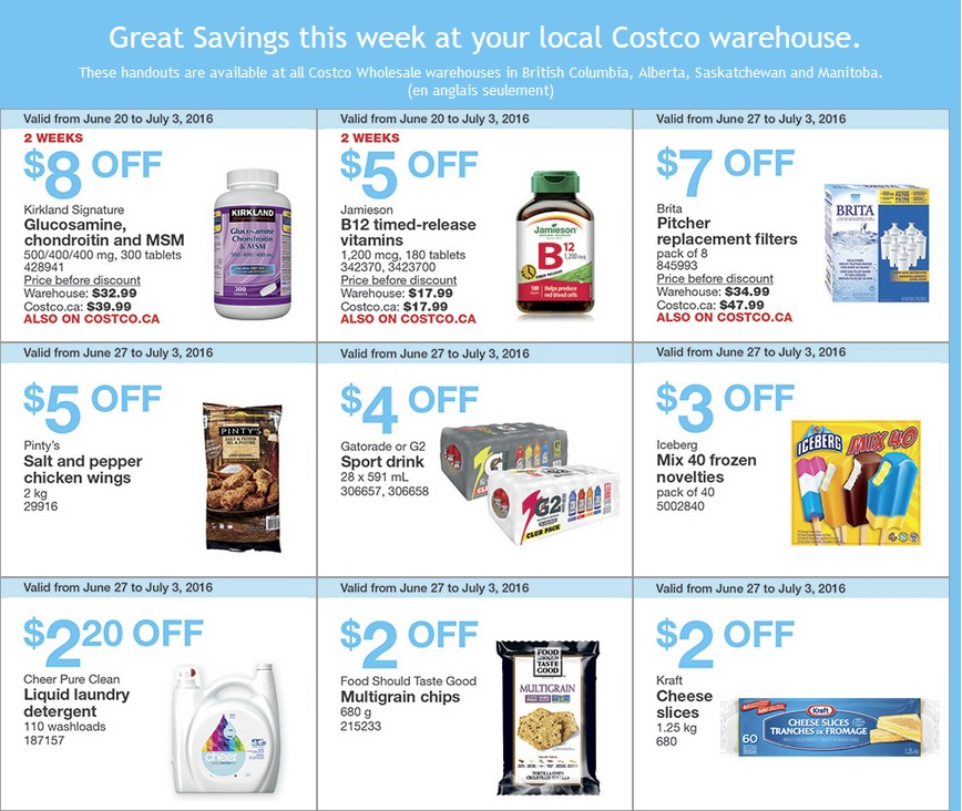 west costco sales items for june 27 - july 3 for bc, alberta ...