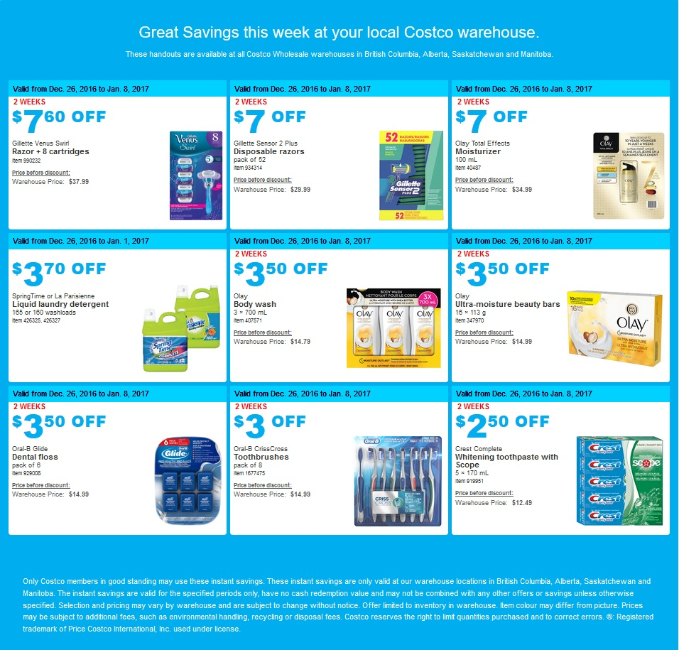 79143e0748e BOXING WEEK SPECIAL  Costco West Sales Items for Dec 26 - Jan 1 for ...