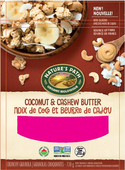 Costco Recall Notice - Nature's Path brand Coconut & Cashew Butter