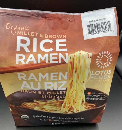Costco Lotus Foods Organ Millet and Brown Rice Ramen