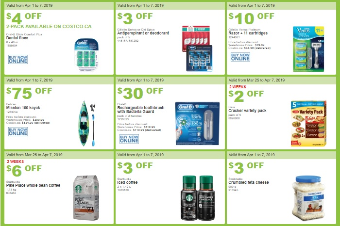 Costco West Sale Items for Apr 01, 2019 - Apr 07, 2019 for