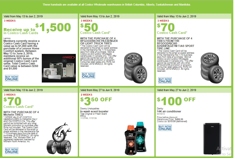 Costco West Sale Items for May 27, 2019 - June 02, 2019 for BC