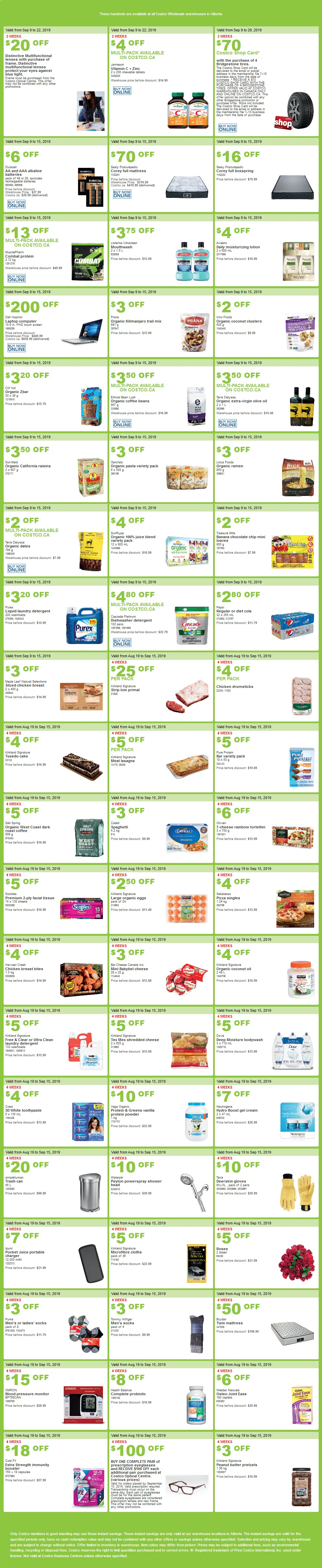 Costco Flyer for Sep 9-15, 2019 for Alberta