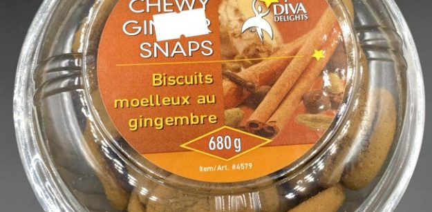 Costco Diva Delights Chewy Ginger Snaps