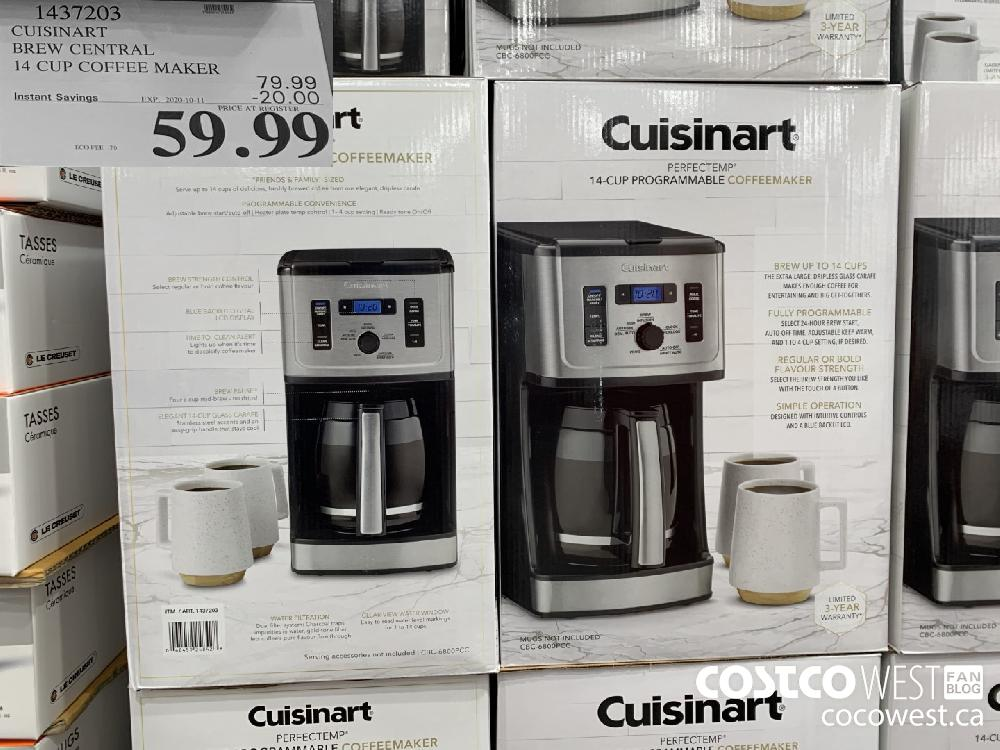 1437203 CUISINART BREW CENTRAL 14 CUP COFFEE MAKER 59.99
