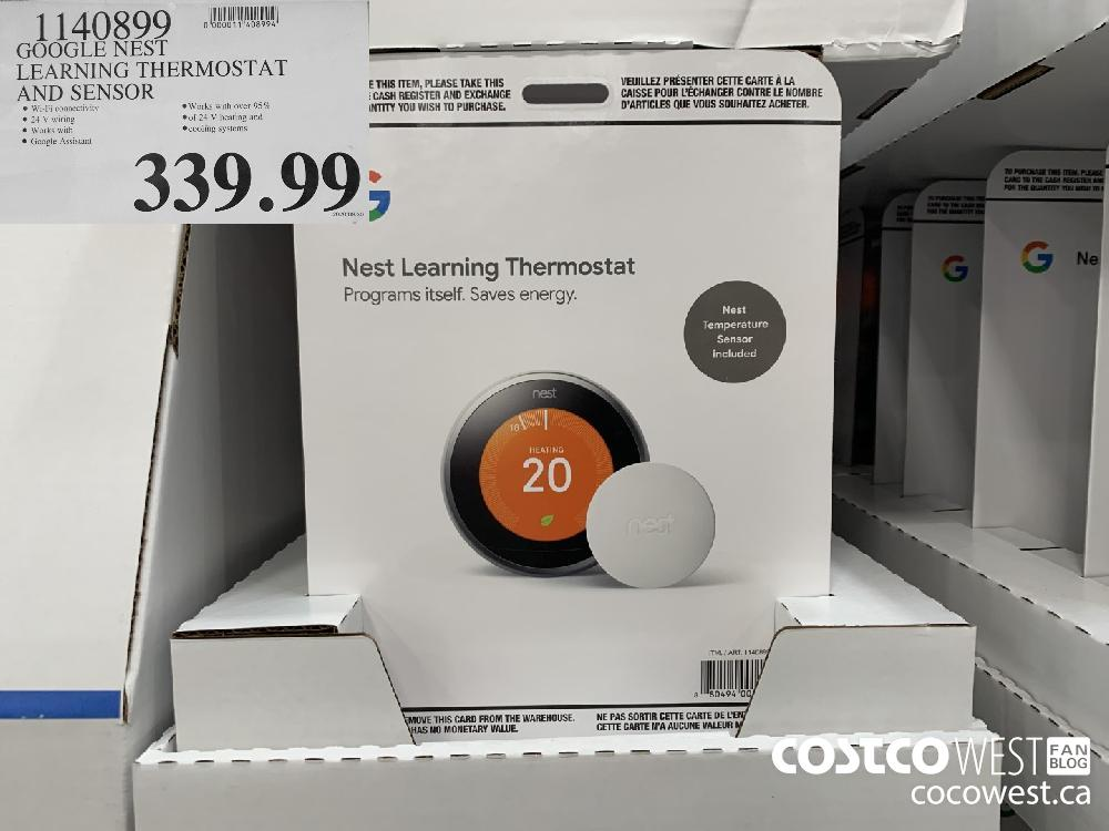 1140899 GOOGLE NEST LEARNING THERMOSTAT AND SENSOR 339.99