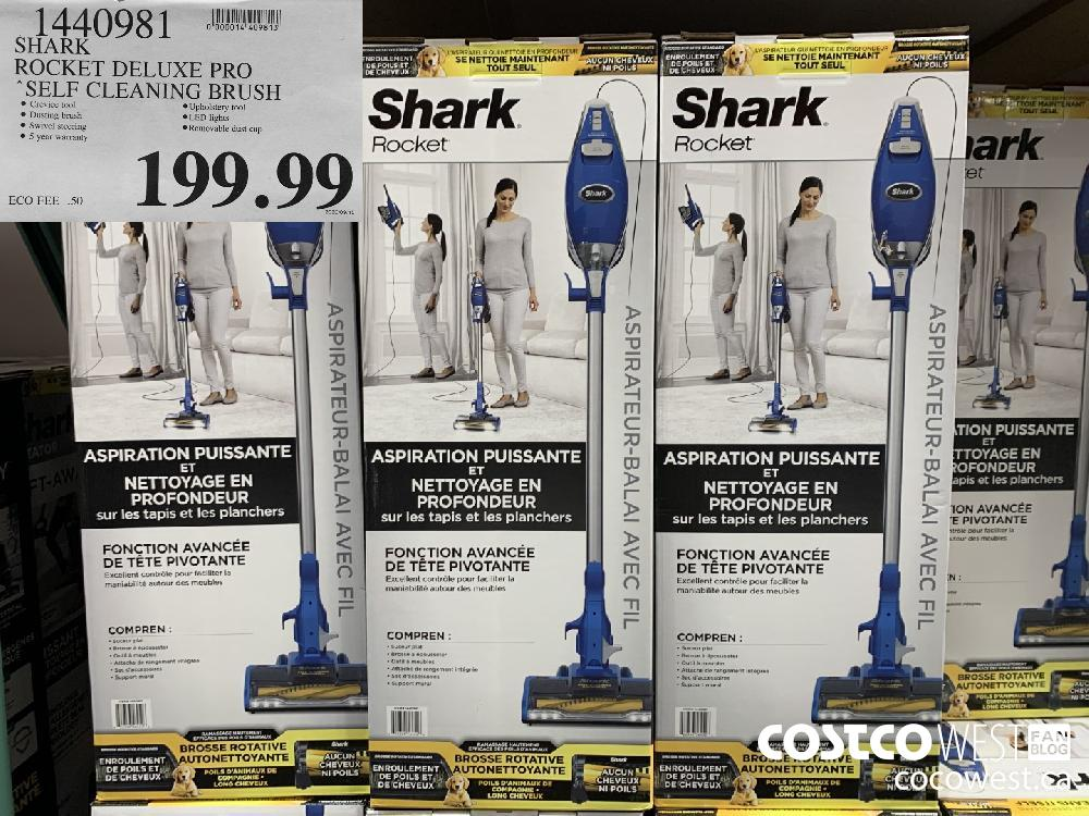 1440981 SHARK ROCKET DELUXE PRO SELF CLEANING BRUSH 199.99