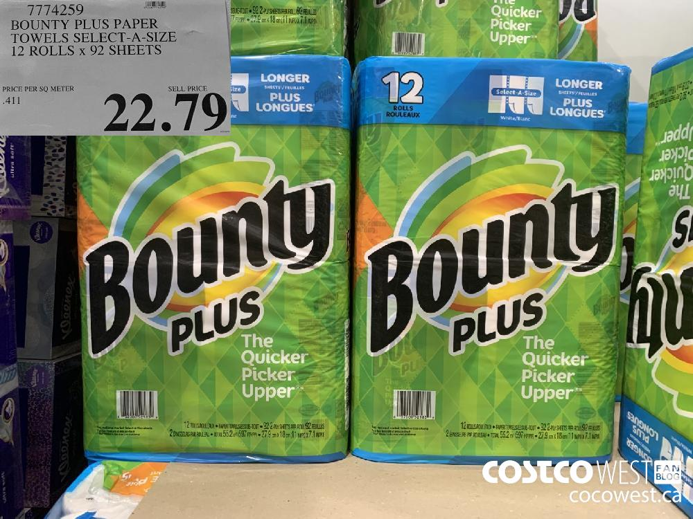 7774259 BOUNTY PLUS PAPER TOWELS SELECT-A-SIZE 12 ROLLS x 92 SHEETS 22.79