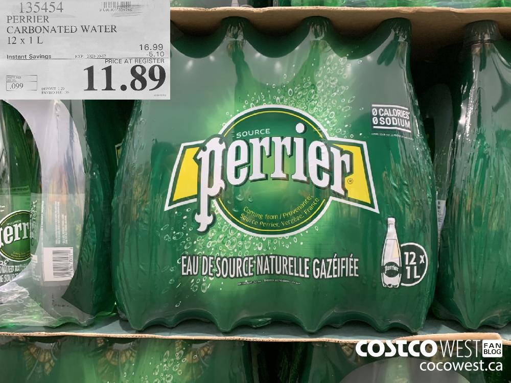 135454 PERRIER CARBONATED WATER 12x 1L 11.89