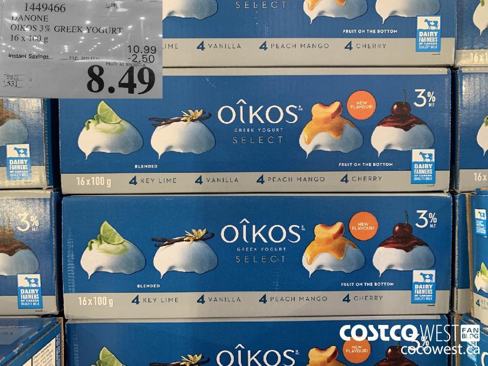1449466 DANONE OIKOS 3% GREEK YOGURT 16 x 100G 8.49