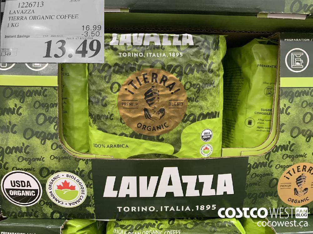 1226713 LAVAZZA TIERRA ORGANIC COFFEE 1 KG 13.49