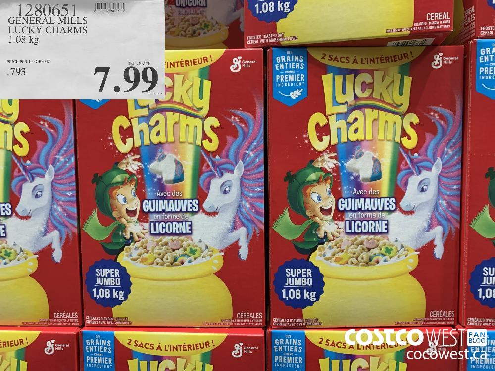 1280651 GENERAL MILLS LUCKY CHARMS 1.08 kg 7.99