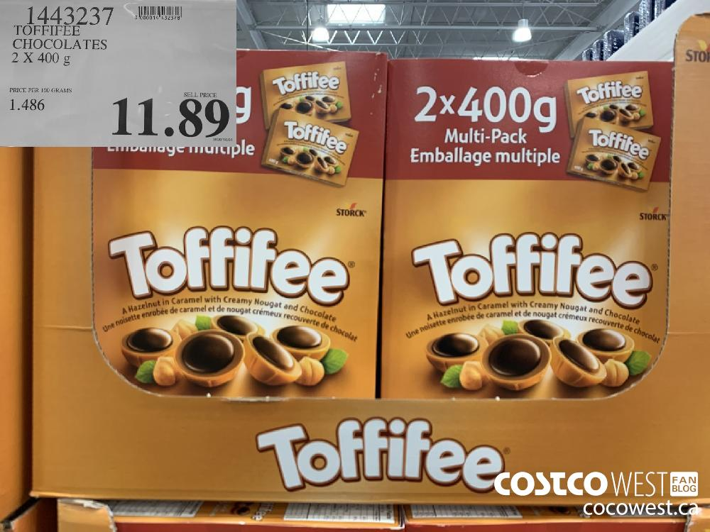 1443237 TOFFIFEE CHOCOLATES 2X 400 g 11.89