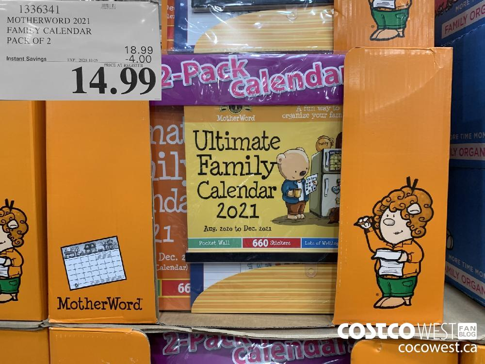 1336341 MOTHERWORD 2021 FAMILY CALENDAR PACK OF 2 14.99