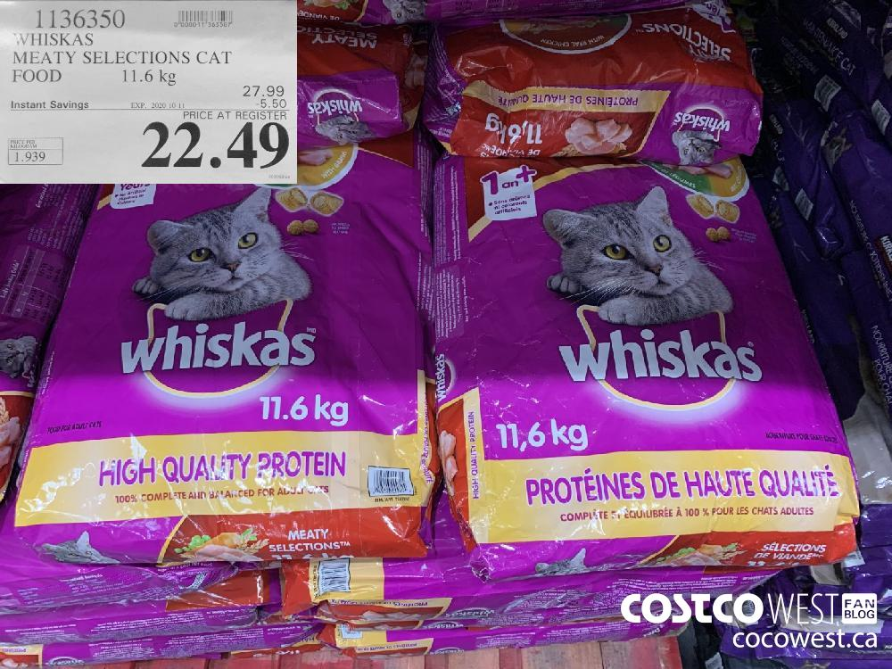 1136350 WHISKAS MEATY SELECTIONS CAT FOOD 11.6 kg 22.49