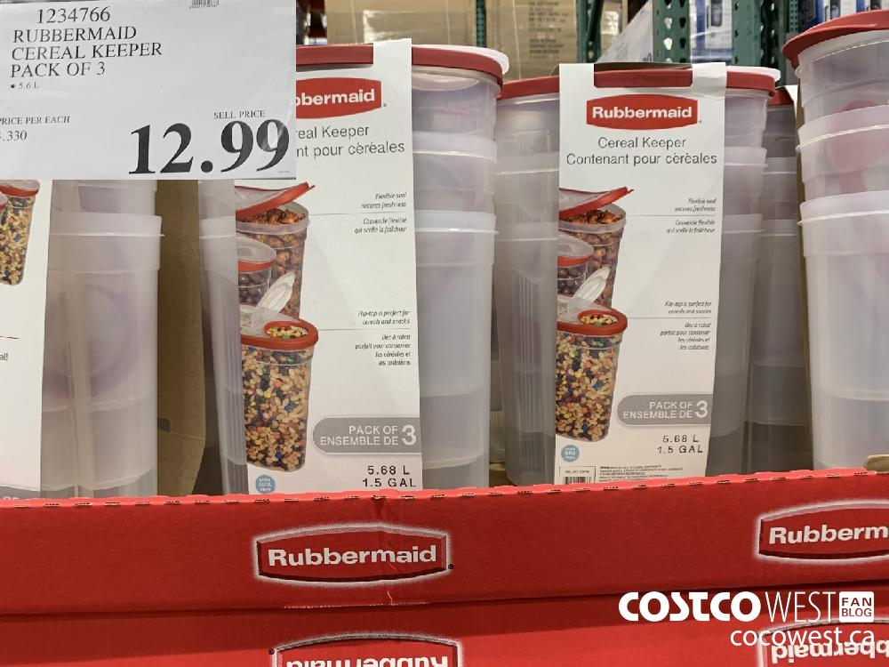 1234766 RUBBERMAID CEREAL KEEPER PACK OF 3 12.99