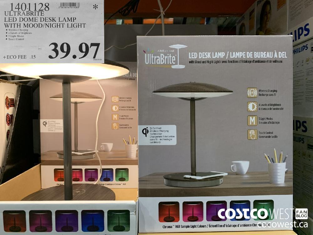 1401128 ULTRABRITE LED DOME DESK LAMP WITH MOOD/NIGHT LIGHT 39.97