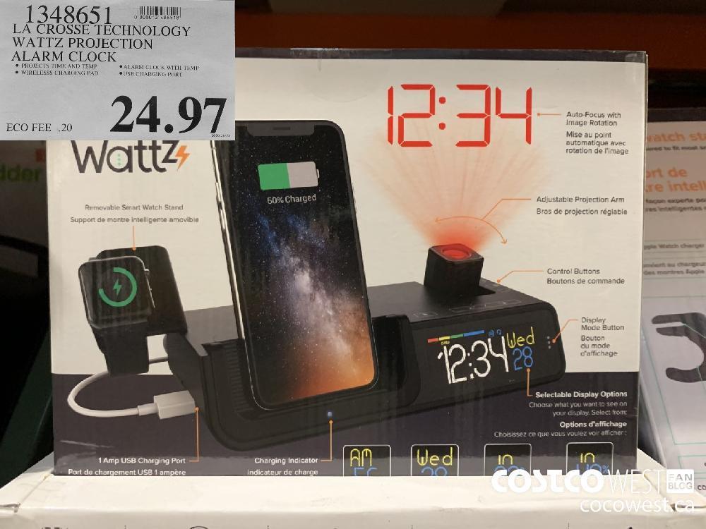 134865 LA CROSSE TECHNOLOGY WATTZ PROJECTION ALARM CLOCK 24.97