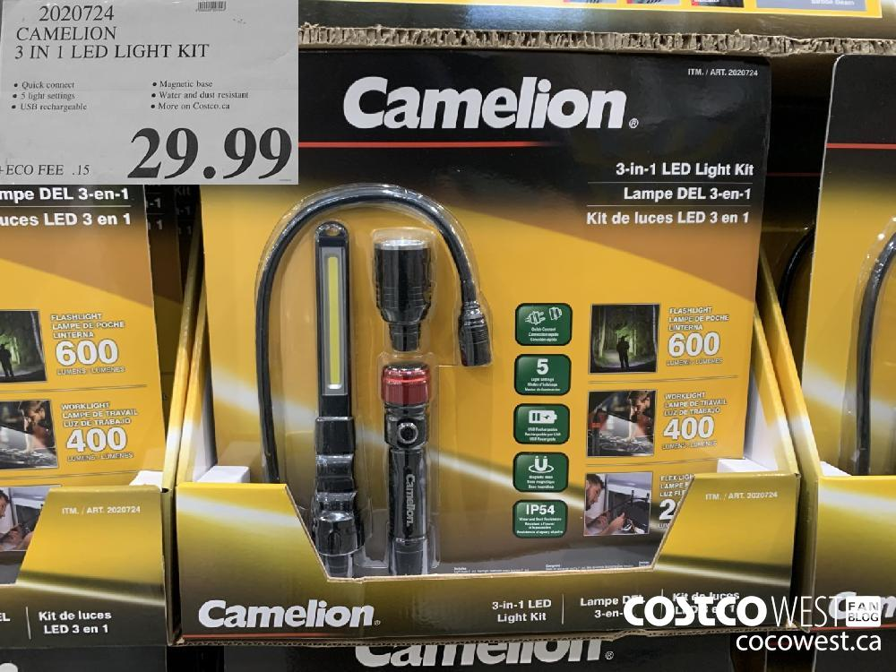 2020724 CAMELION 3 IN 1 LED LIGHT KIT 29.99