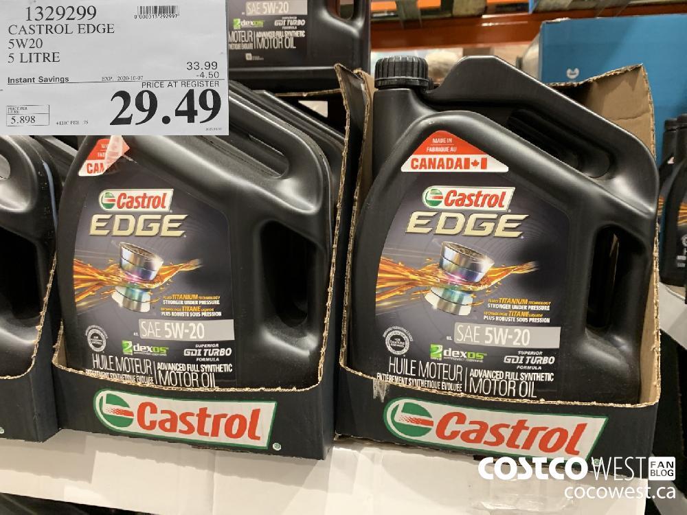 1329299 CASTROL EDGE 5W20 5 LITRE EXP. 2020-10-07 29.49