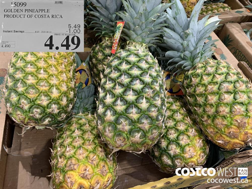 15099 GOLDEN PINEAPPLE PRODUCT OF COSTA RICA EXP 2020-10-11 4.49