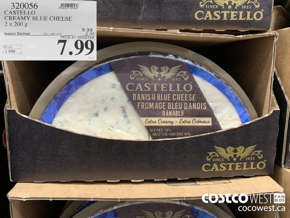 320056 CASTELLO CREAMY BLUE CHEESE 2 x 200 g EXP 2020-10-11 7.99