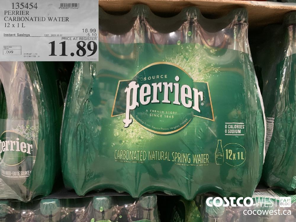 135454 PERRIER CARBONATED WATER 2 X 1L EXP 2020-10-07 11.89