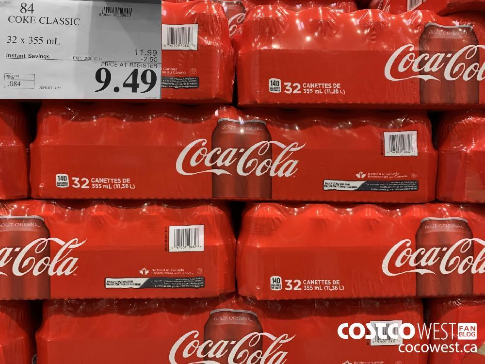 84 COKE CLASSIC 32 x355 mL EXP 2020-10-11 9.49