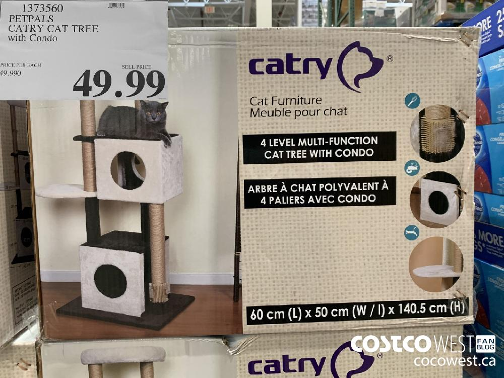 1373560 PETPALS CATRY CAT TREE with Condo 49.99