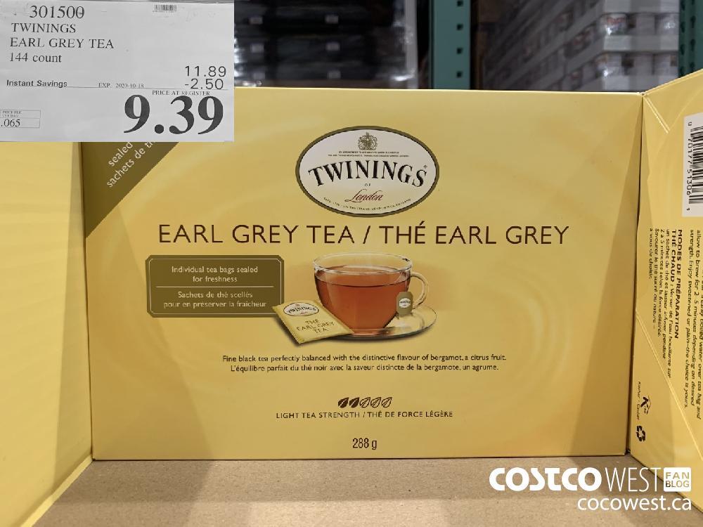 301500 TWININGS EARL GREY TEA 144 count EXP. 2020-10-11 9.39