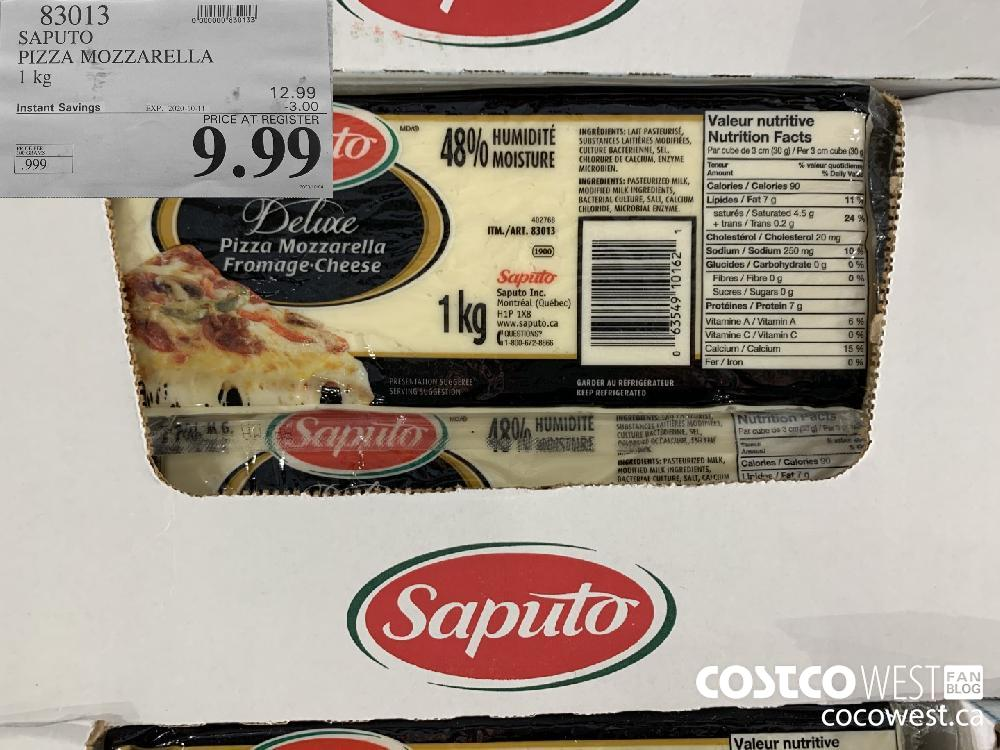 83013 SAPUTO PIZZA MOZZARELLA 1 kg EXP. 2020-10-11 9.99