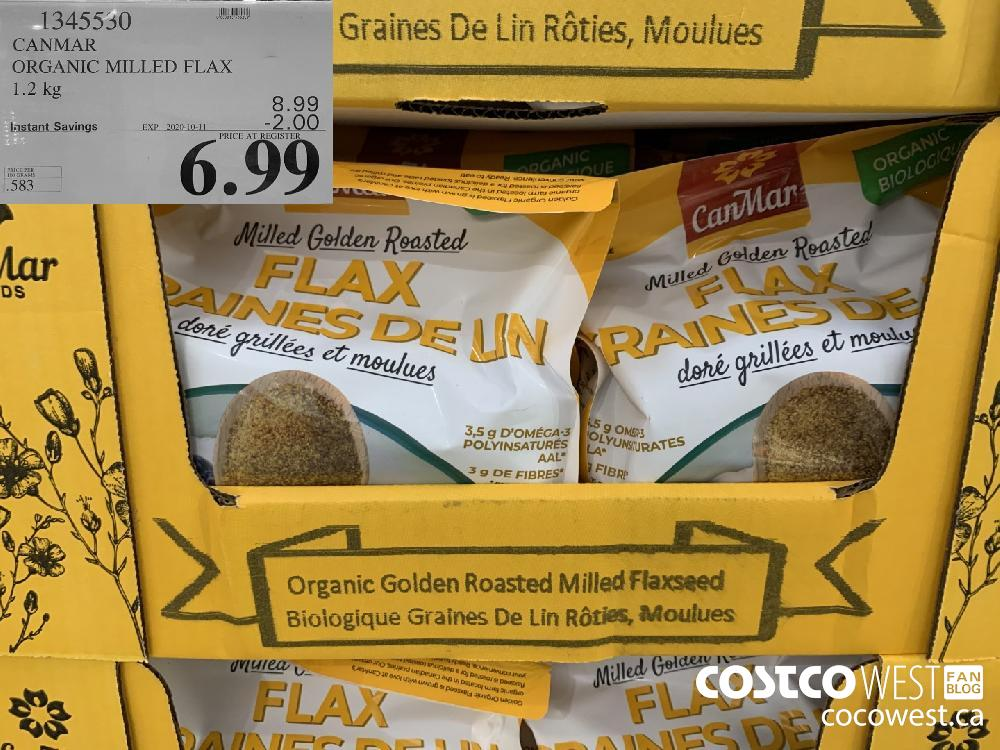 1345530 CANMAR ORGANIC MILLED FLAX 1.2kg EXP. 2020-10-11 6.99