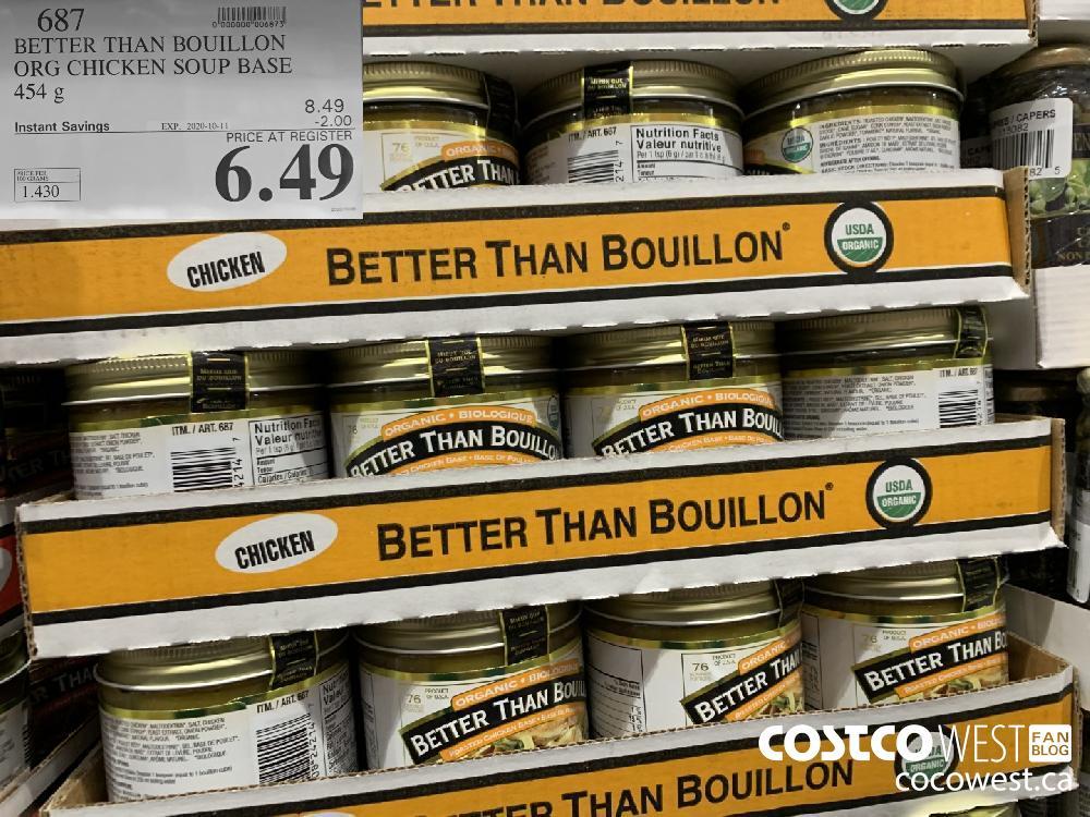 687 BETTER THAN BOUILLON ORG CHICKEN SOUP BASE 454 g EXP. 2020-10-11 6.69