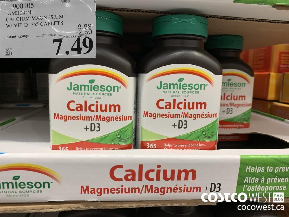 900105 JAMIESON CALCIUM MAGNESIUM W/ VIT D 365 CAPLETS EXP. 2020-10-11 7.49
