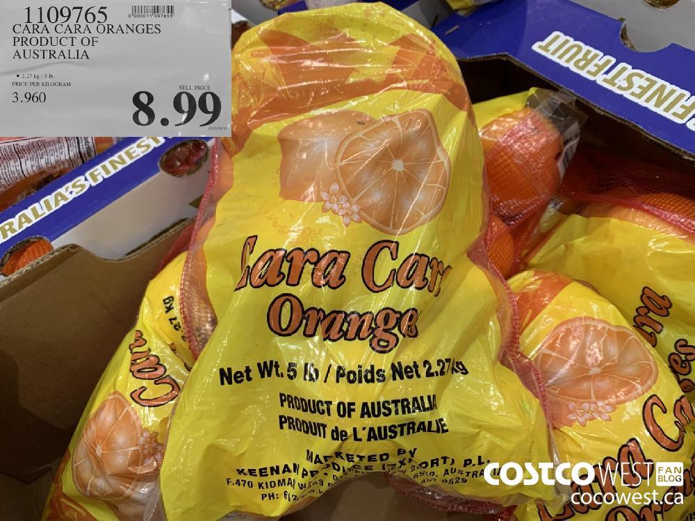 1109765 CARA CARA ORANGES PRODUCT OF AUSTRALIA © 2.27kg / 5b 8.99