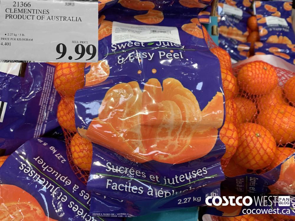 21366 CLEMENTINES PRODUCT OF AUSTRALIA © 2.27 kg/5 Ib. 9.99