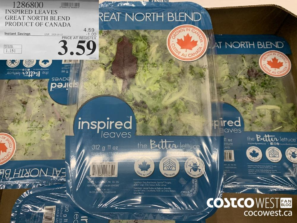 1286800 INSPIRED LEAVES GREAT NORTH BLEND PRODUCT OF CANADA 3.59