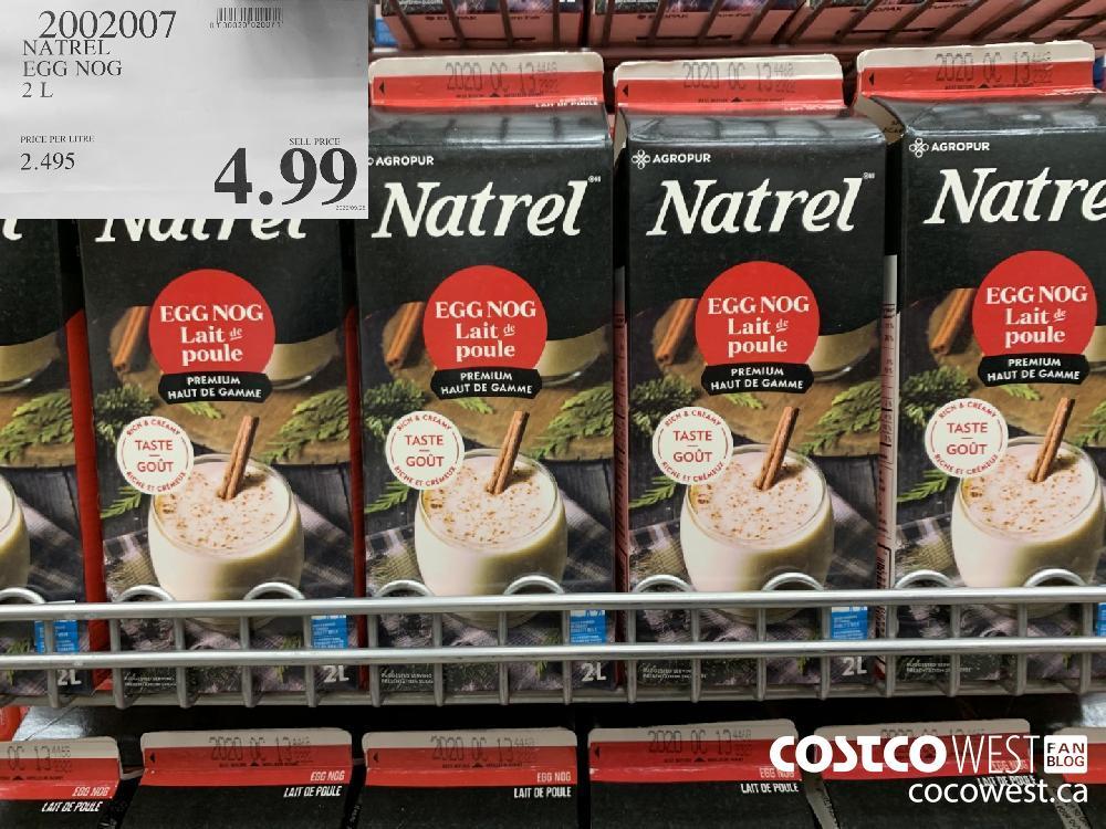 2002007 NATREL EGG NOG 2 L 4.99