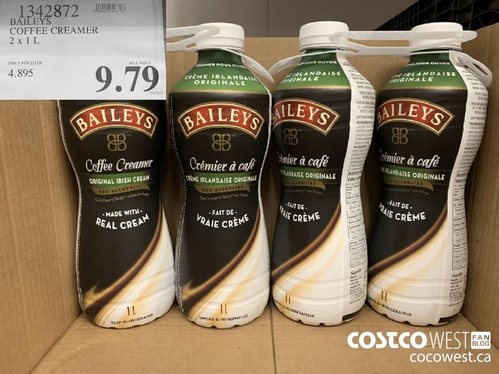 1342872 BAILEYS COFFEE CREAMER 2 x 1 L 9.79