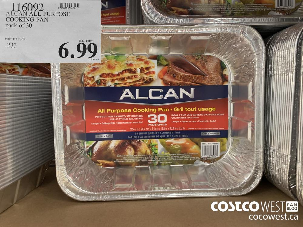 116092 ALCAN ALL PURPOSE COOKING PAN pack of 30 6.99