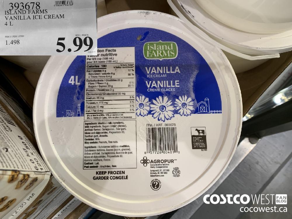 393678 ISLAND FARMS VANILLA ICE CREAM 4L 5.99