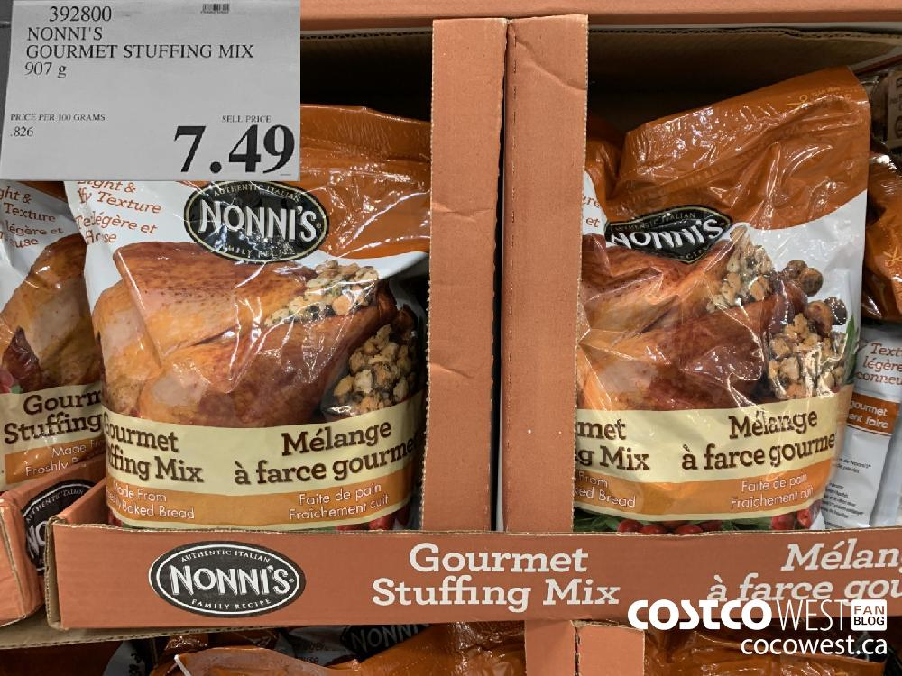 392800 NONNI'S GOURMET STUFFING MIX 907 g 7.49