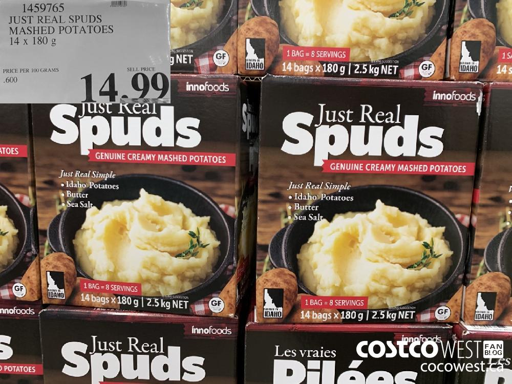 1459765 JUST REAL SPUDS MASHED POTATOES 14 x 180 g 14.99