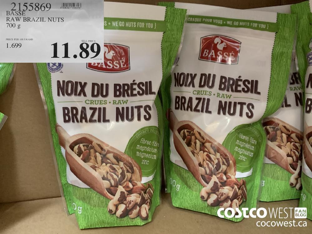 2155869 BASSE RAW BRAZIL NUTS 700 g 11.89