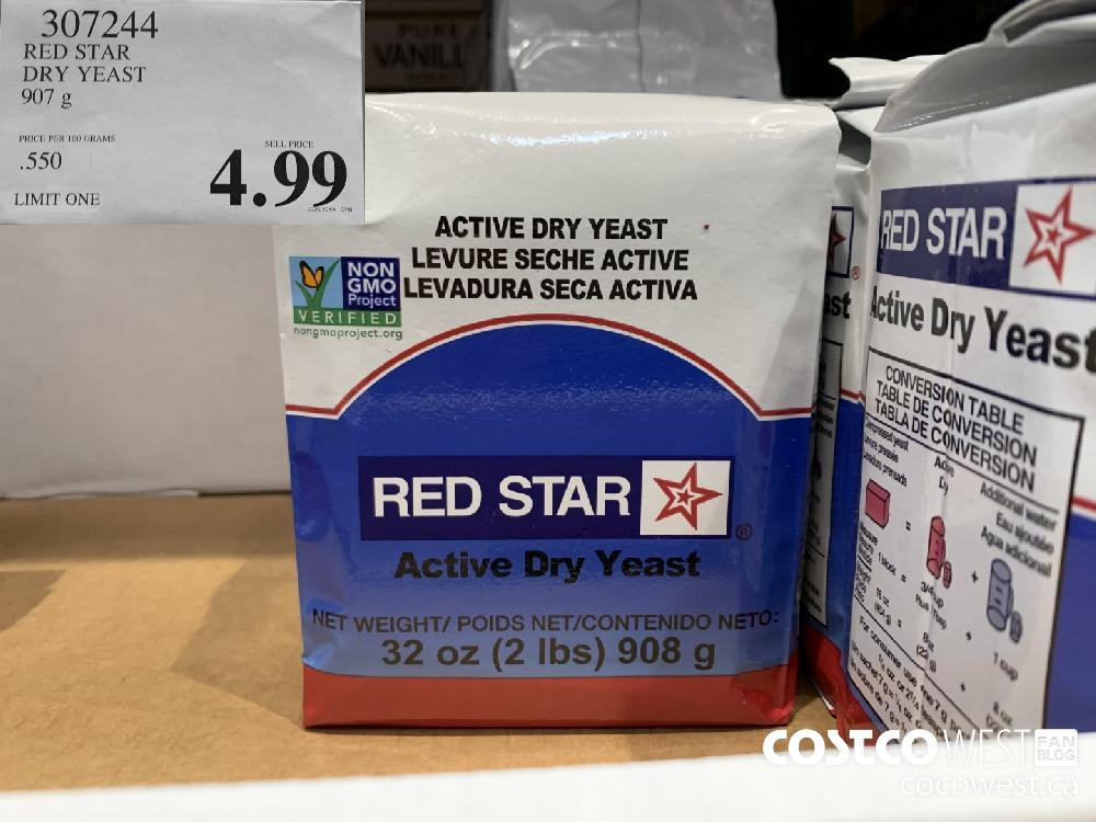 307244 RED STAR DRY YEAST 907 g LIMIT ONE 4.99