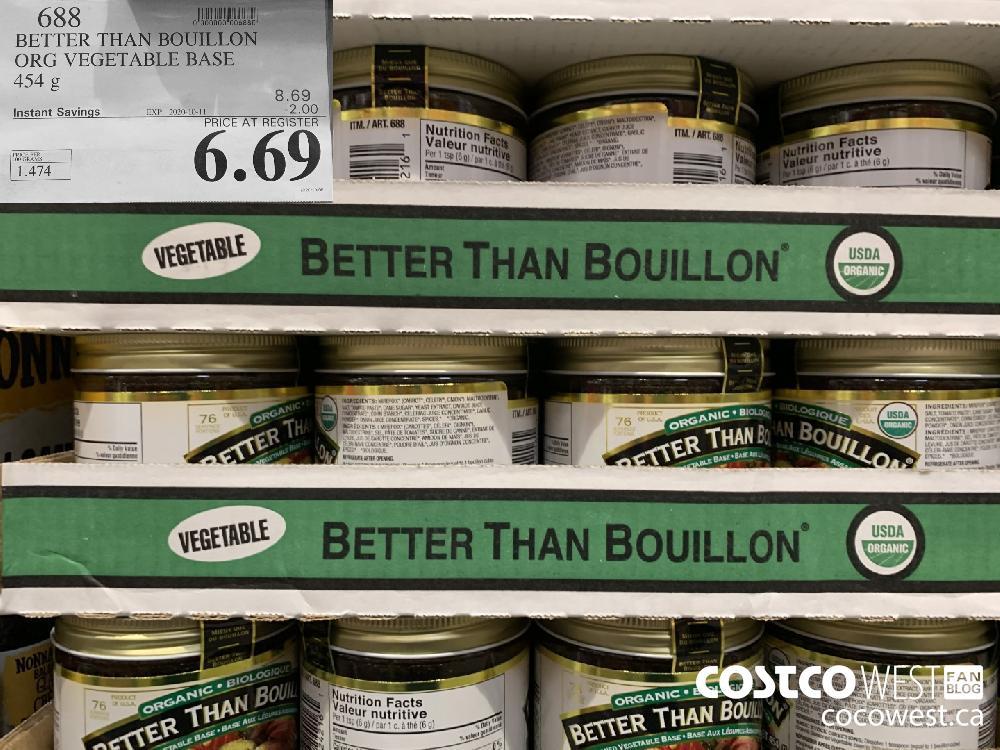 688 BETTER THAN BOUILLON ORG VEGETABLE BASE 454 g 6.69
