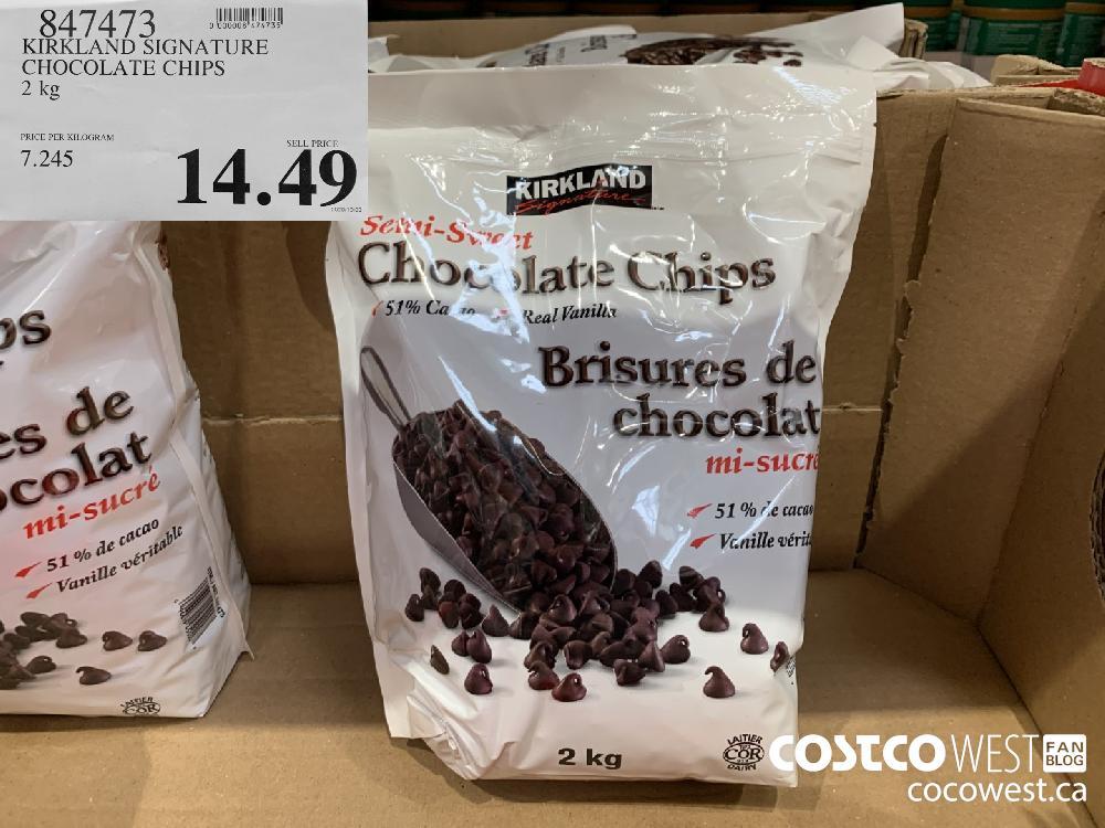 857473 KIRKLAND SIGNATURE CHOCOLATE CHIPS 2 kg 14.49