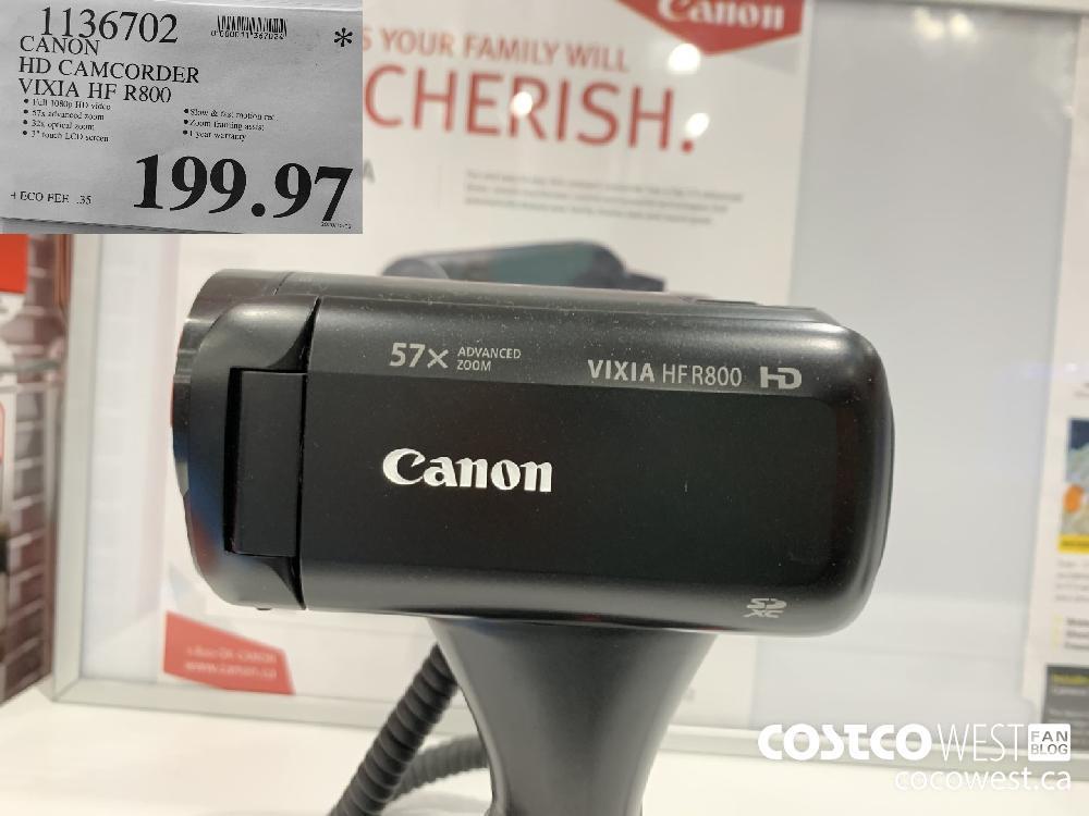 1136702 CANON HD CAMCORDER VIXIA HF R800 199.97