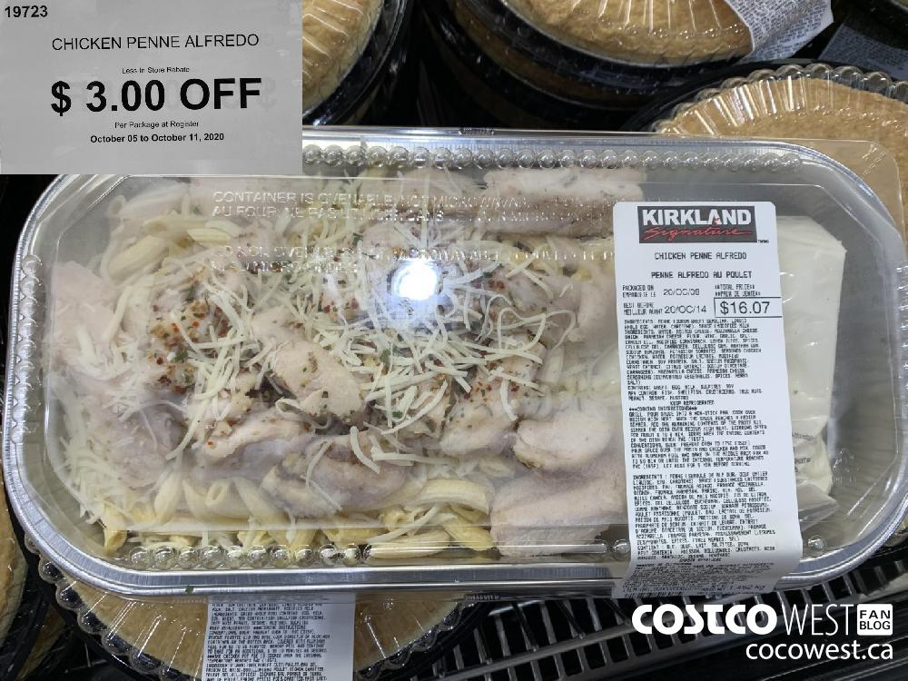 19723 CHICKEN PENNE ALFREDO Less In-Store Rebate 3.00 OFF Per Package at Register October 05 to October 11 2020