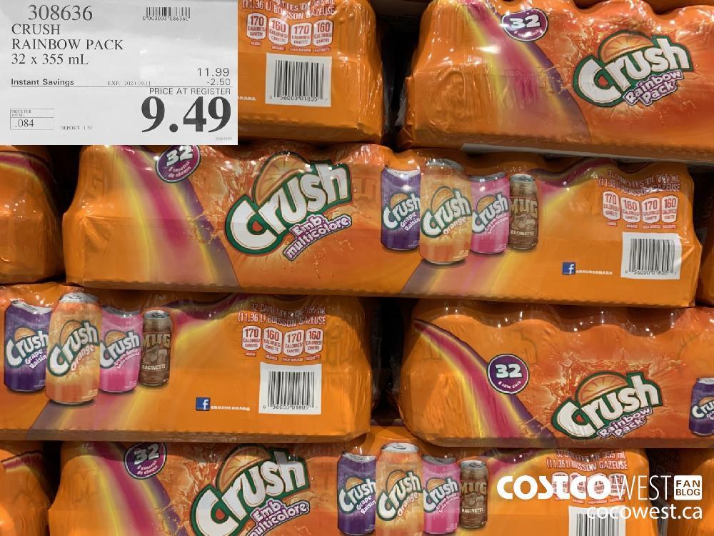 308636 CRUSH RAINBOW PACK 32 x 355 mL EXP. 2020-10-11 9.49